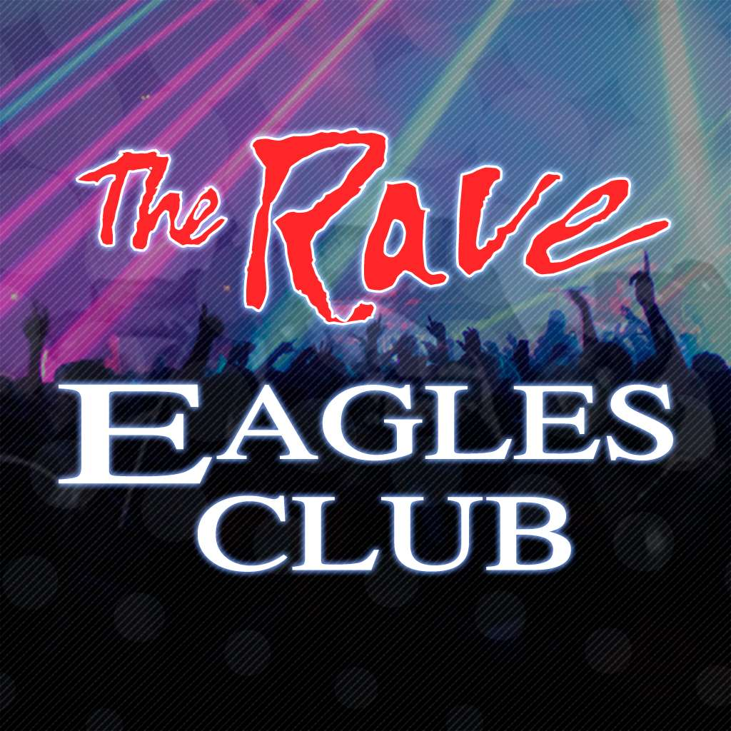 The rave eagles club logo