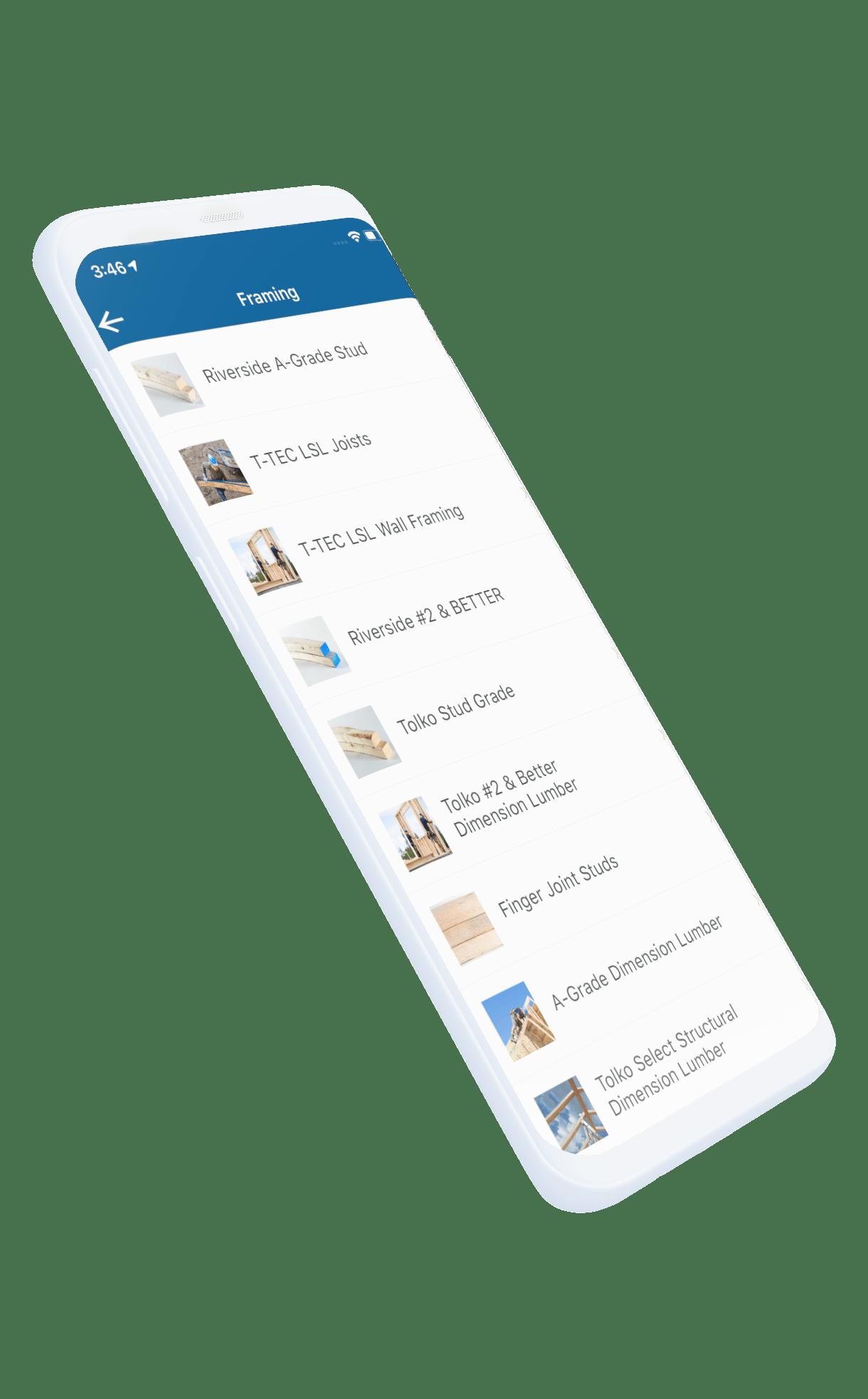 Custom app build phone picture